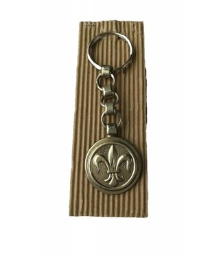 Key Chain In Nickel Silver with Medal 4""