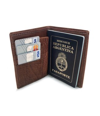 Los Robles Polo Time Passport / Travel Wallet Cow Leather Cognac