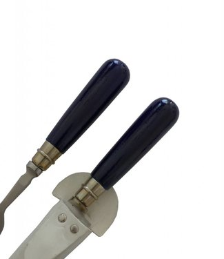 Set of Knife and Fork with Hand-painted Wooden Handle