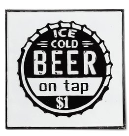 "Squared ""Ice Cold Beer"" Wall sign - 17.5"""