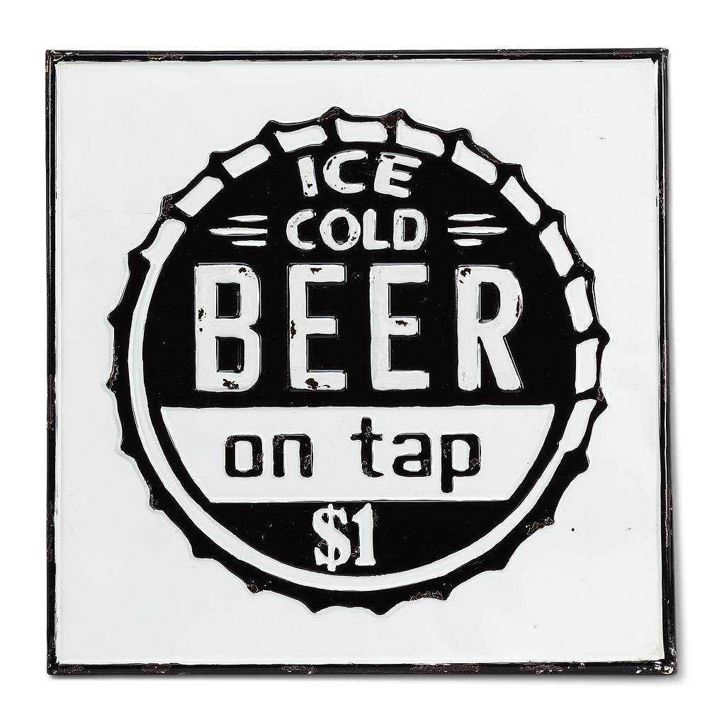 squared ice cold beer wall sign 17 5 country comforts