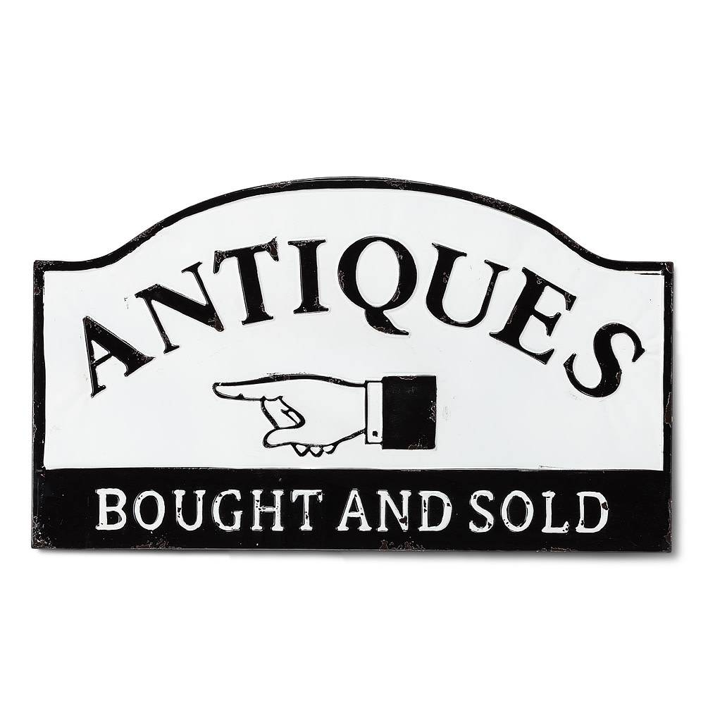 """Antiques Sold"" Wall Sign"