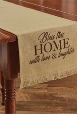 """Bless This Home Printed Table Runner 13"""" x 54"""""""