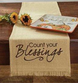 "Count Blessings Table Runner 13""x 54"""