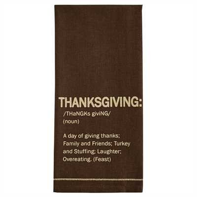 Thanksgiving Print Dishtowel