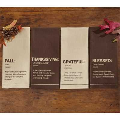 Grateful Printed Dishtowel