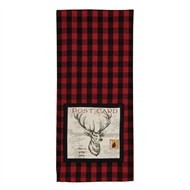 Yuletide Reindeer Decorative Dishtowel