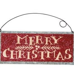 Tin Sign - Merry Christmas