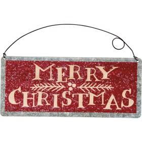 Tin Sign - Merry Christmas