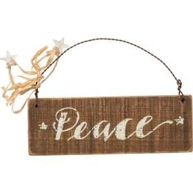 Slat Ornament - Peace