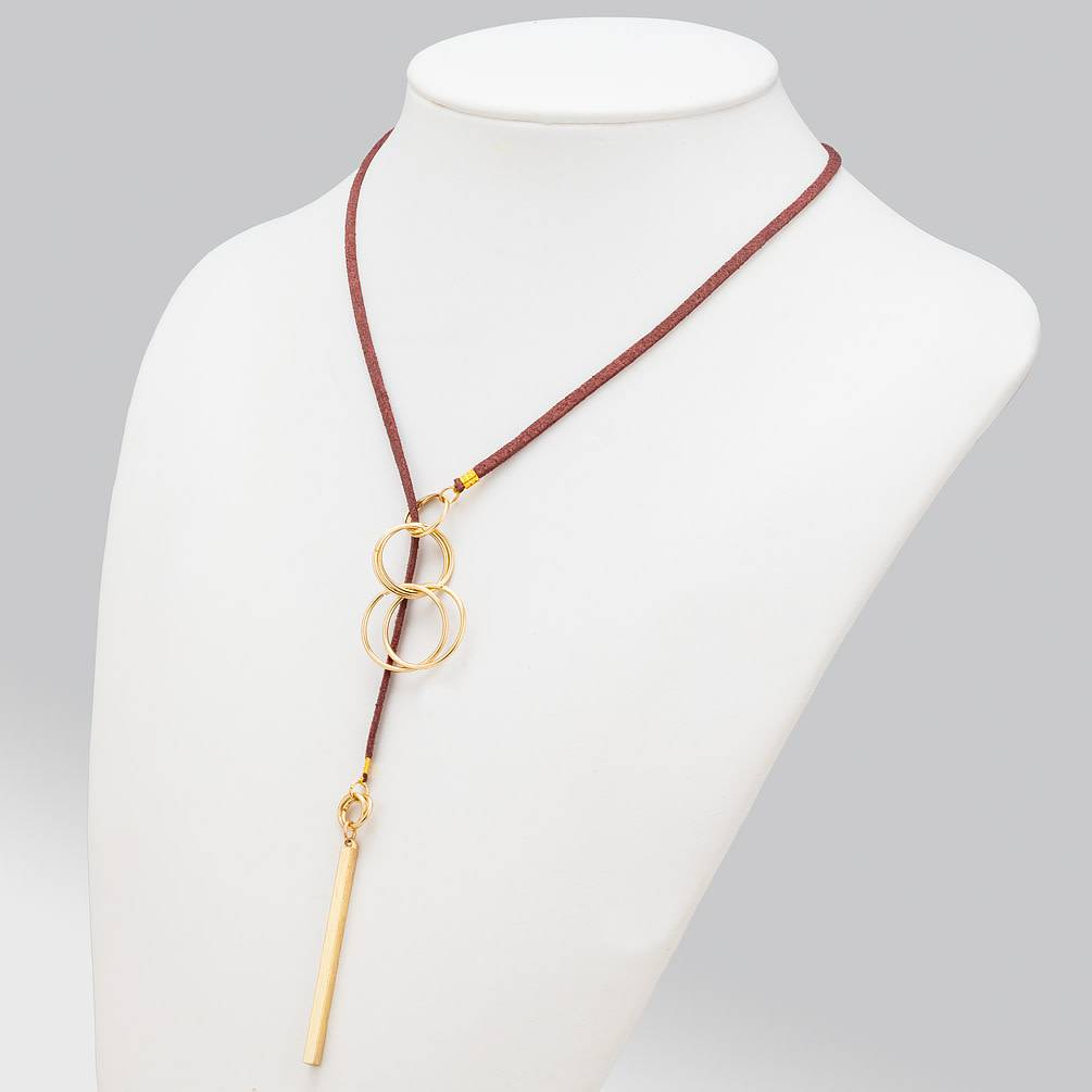 Burg Thread-Thru Necklace 36""