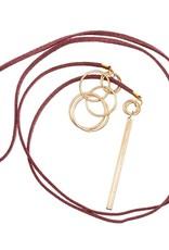 """Burg Thread-Thru Necklace 36"""""""