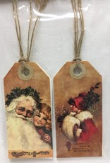 4pc Vintage Gift Tags - Merry Christmas