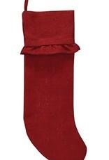Red Burlap Stocking