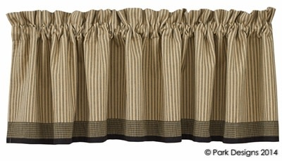 "Primitive Star Lined Boarder Valance 72"" x 14"""