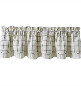 Lined Layered Valance - Mercantile Windowpane