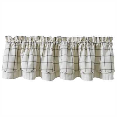 Lined Layered Valance - Mercantile Windowpane
