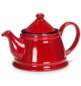 Enamel Look Teapot - Red