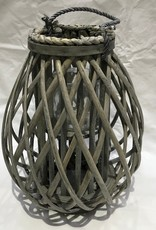 Willow Lantern with Handle - Grey