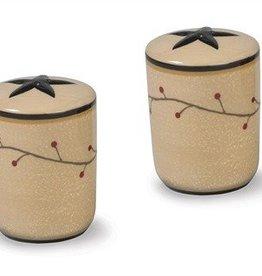 Star Vine Salt & Pepper Shakers