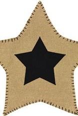 Burlap Star Accent Mat