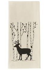 Deer & Birch Dish Towel