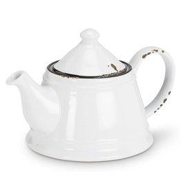 Enamel Teapot - White