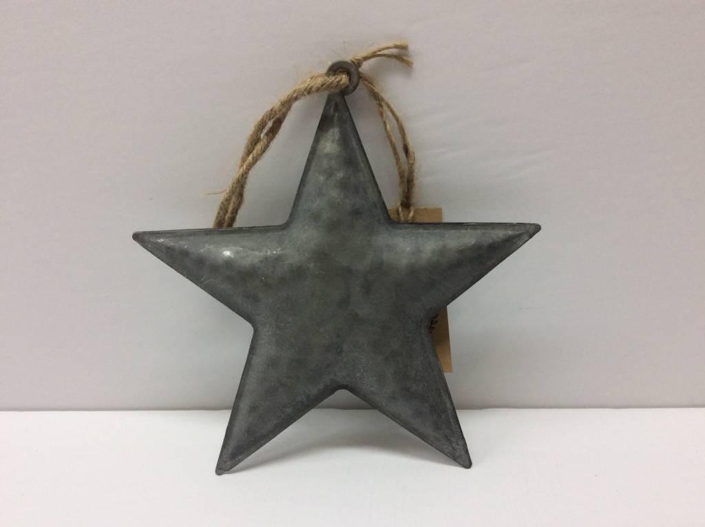 "6"" 3D Galvanized Star"