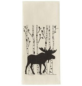 Moose and Birch Tea Towel