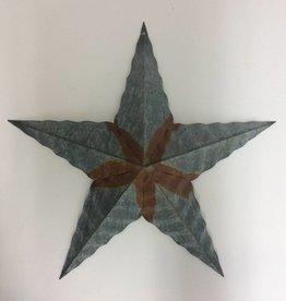 "18"" Corrugated Barn Star - Galvenized"