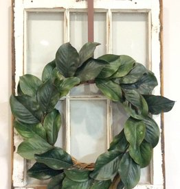 Magnolia Leaf Wreath 24""