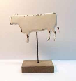 Tin Cow on a Stand