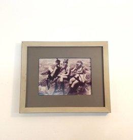 White & Taupe Frame 5x7