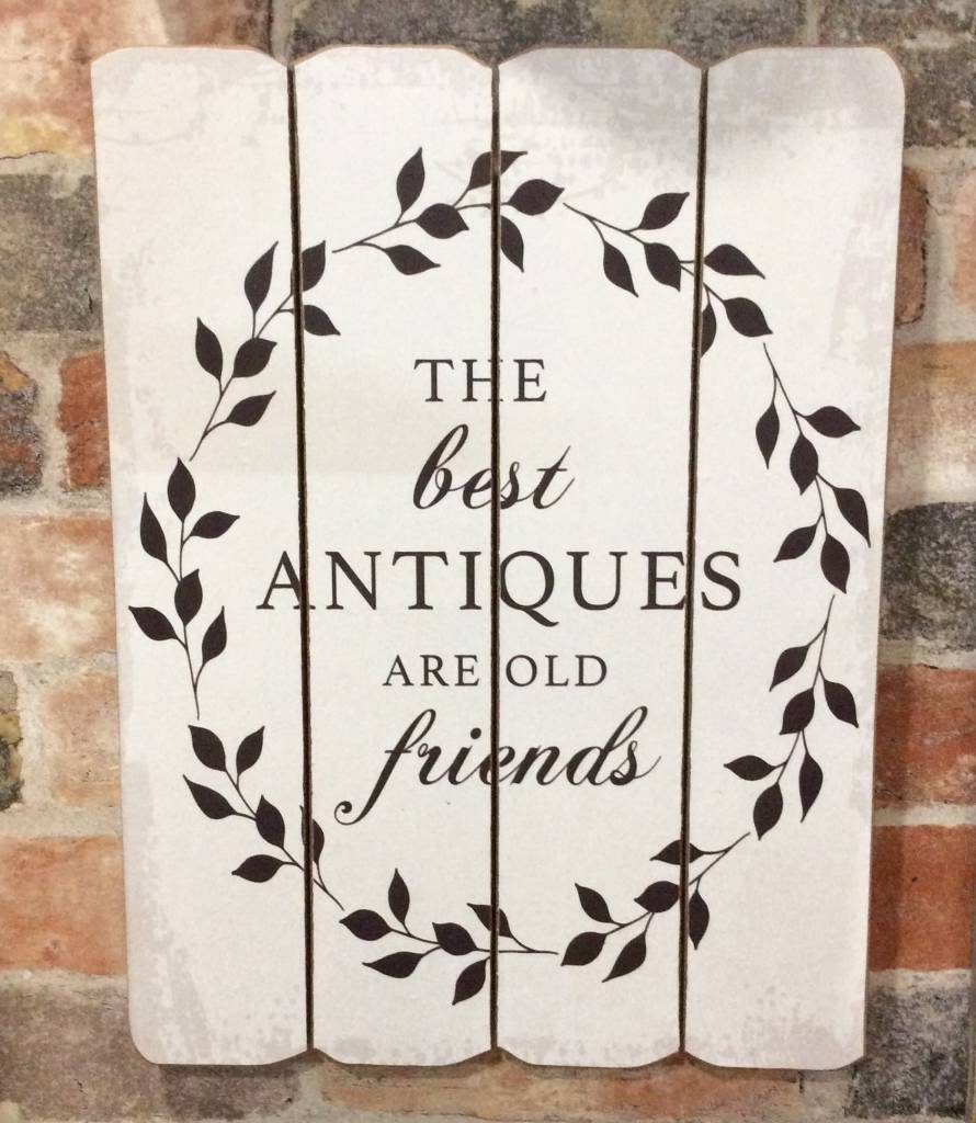 "Best Antiques Sign 12""x16"""