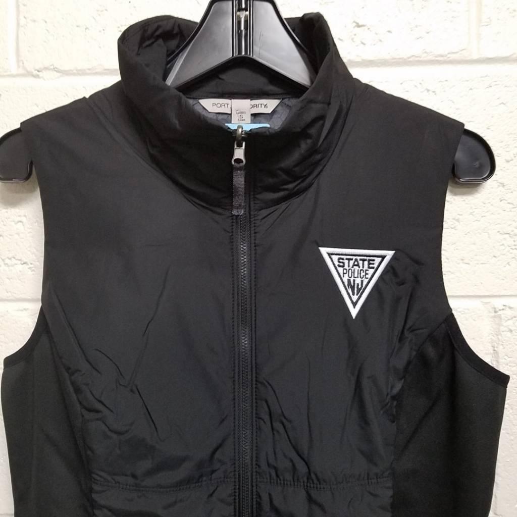 Ladies Full Zip Vest - Black
