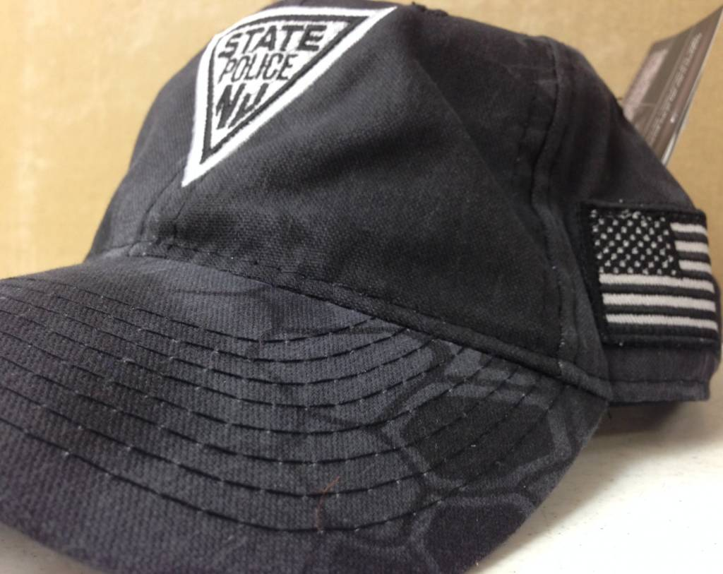 Hat Black Tactical Kryptek with American Flag on Side