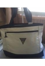 Utility Tote Bag Natural and Navy