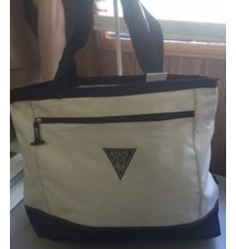 Utility Tote Bag Natural and Navy