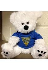 "8"" Plush White Teddy Bear"