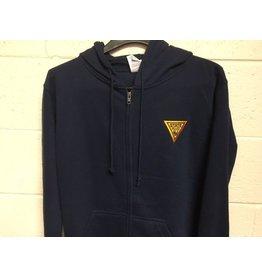 Delta Zipper Hooded Sweat Shirt