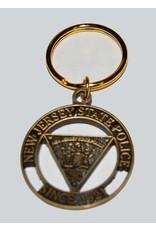 NJSP Keychain Brass