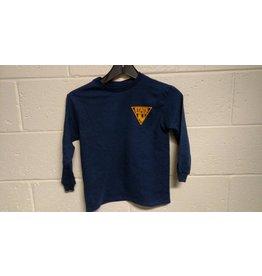Delta Youth Long Sleeve Tee Shirt - Navy