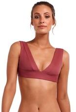 Swimwear Vitamin A - Magnolia V-Neck in Havana Rose EcoLux