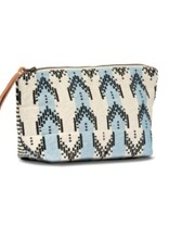 Bags Mercado Global - Mini Cristina Cosmetic Pouch in Sky Brocade