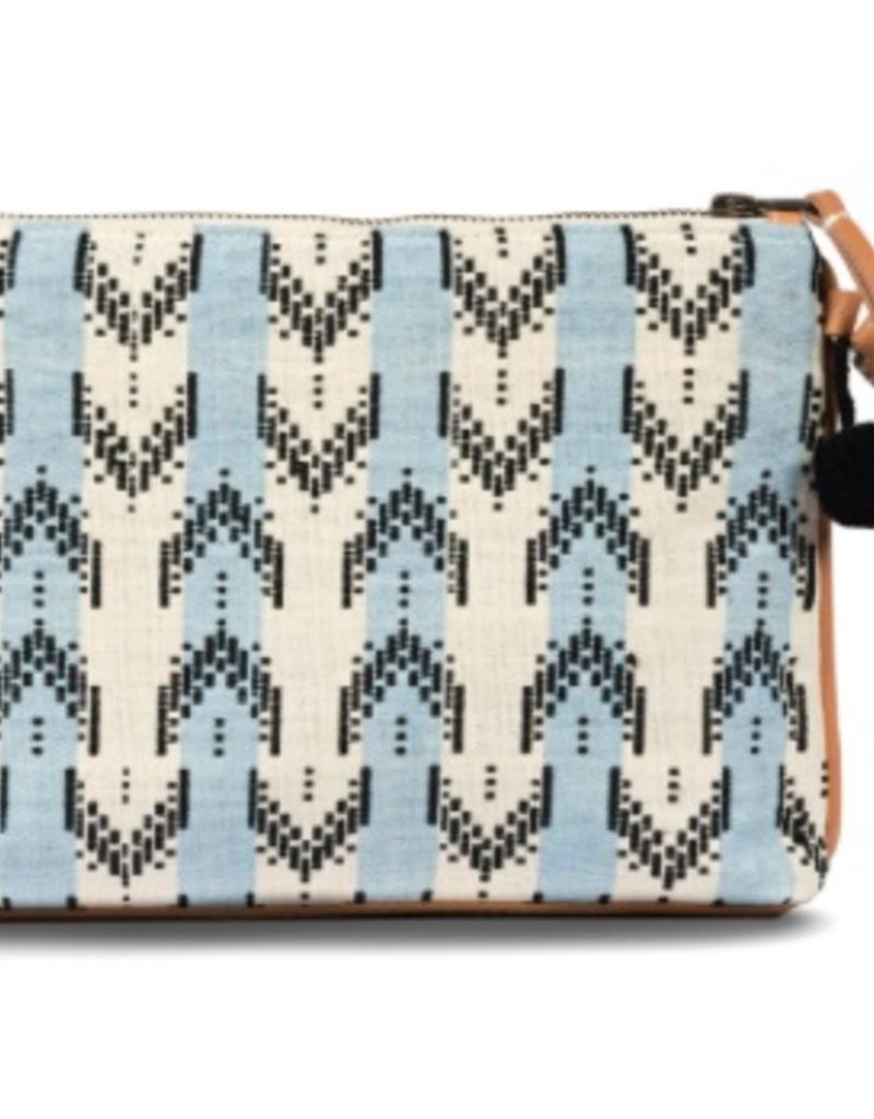 Bags Mercado Global - Carolina Clutch in Sky Brocade