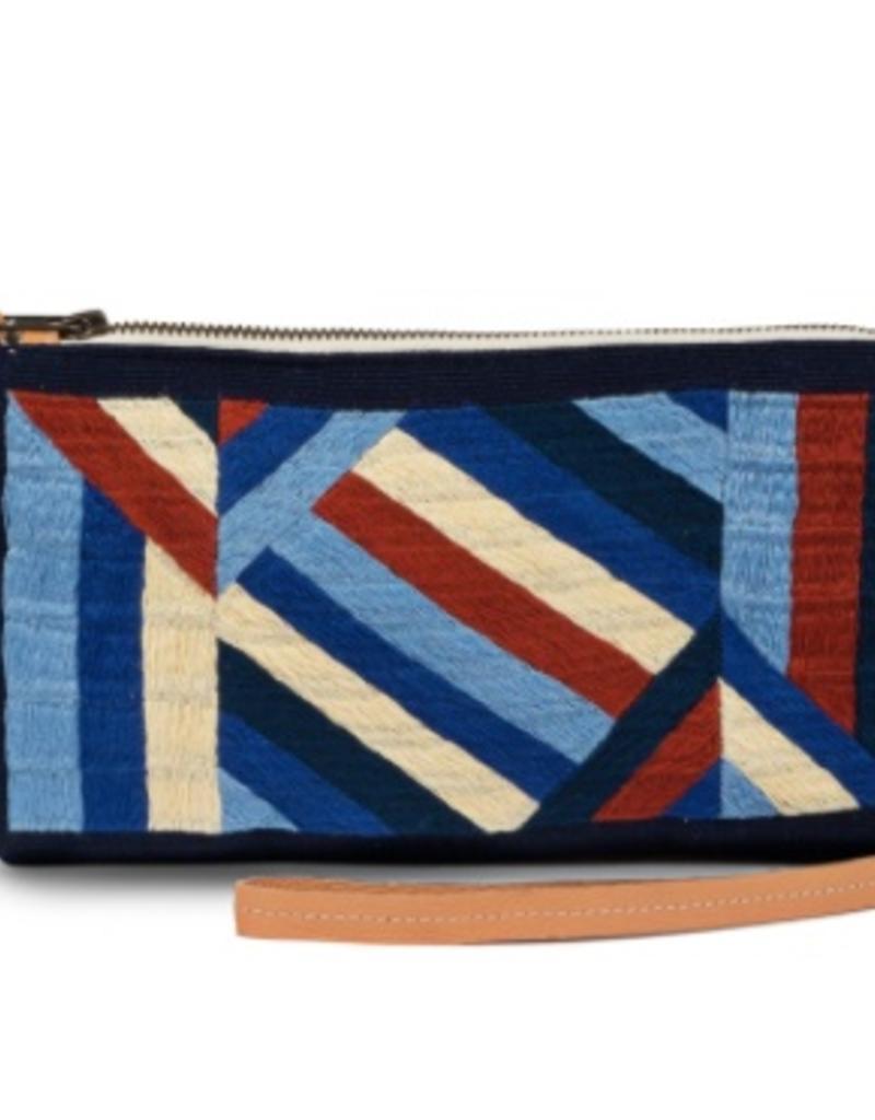 Bags Mercado Global - Isa Crossbody in Sky Embroidery