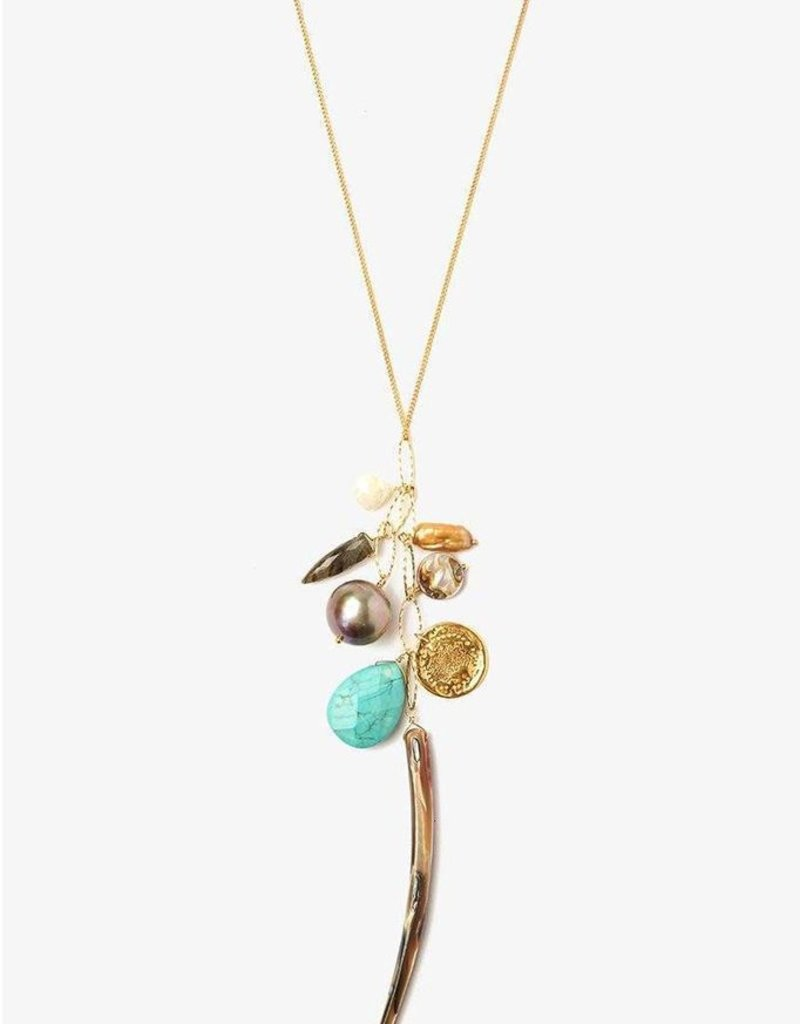 Necklaces Chan Luu - Abalone Mix Charm Layering Necklace