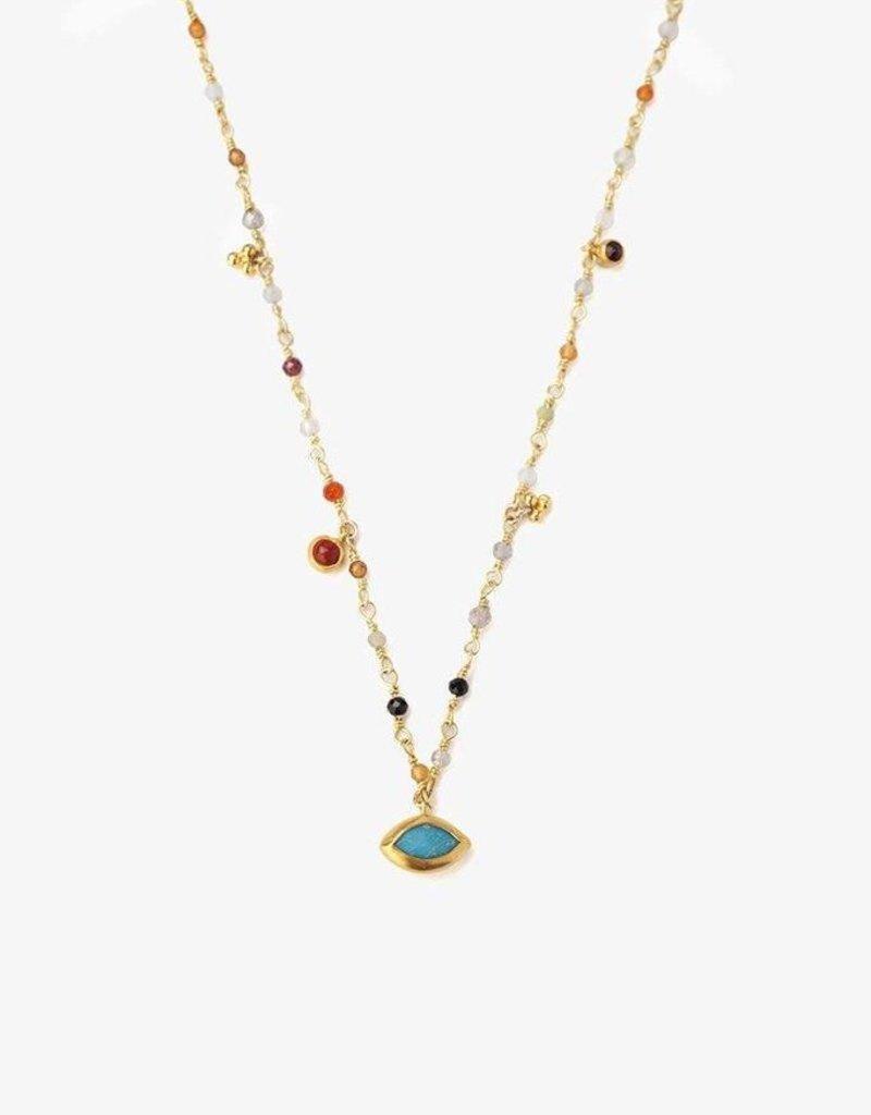 Necklaces Chan Luu - Multi Mix Evil Eye Short Necklace