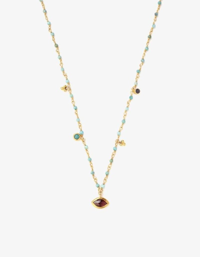 Necklaces Chan Luu - Turquoise Mix Evil Eye Short Necklace
