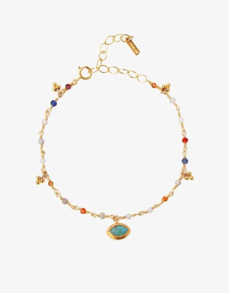 Bracelets Chan Luu - Multi Mix Evil Eye Charm Bracelet